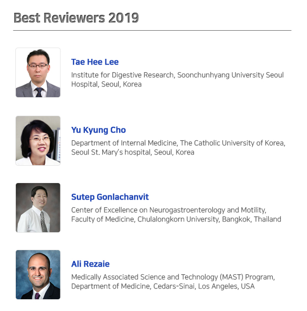 Best Reviewers 2019