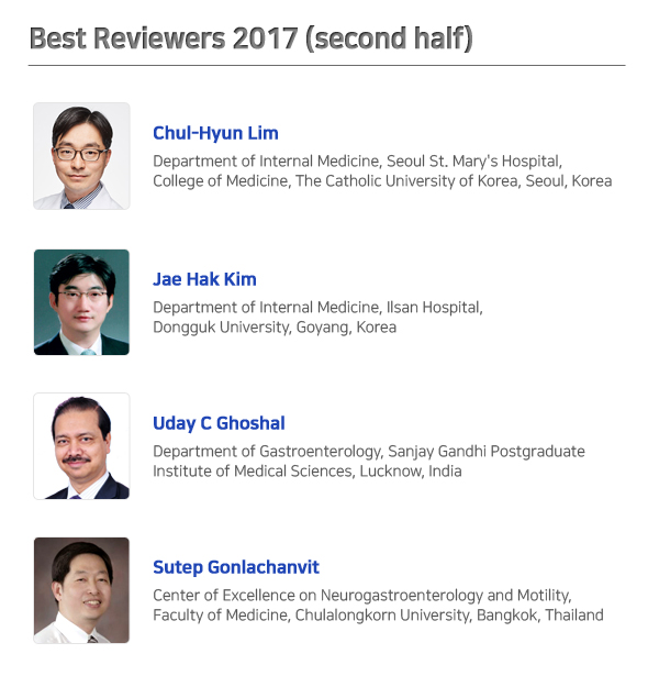 Best Reviewers 2017 (second half)